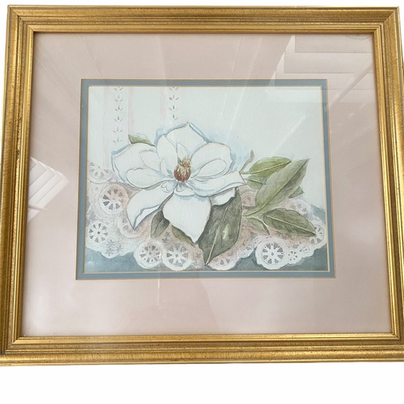 Vintage Mary Vincent Bertrand Magnolia Art Print